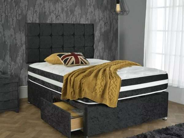 Stardom Black Divan Bed