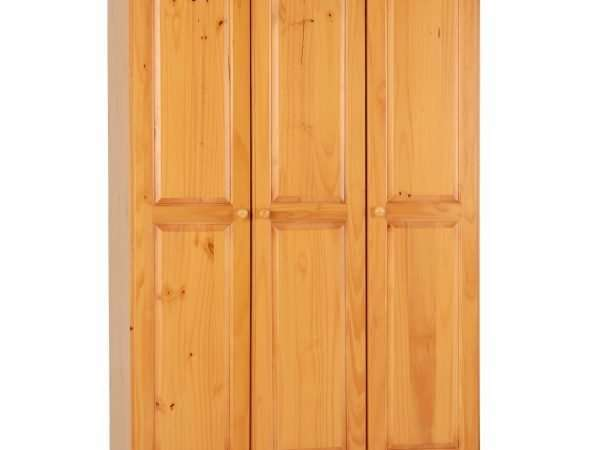 Antique Pine 3 Door Wardrobe