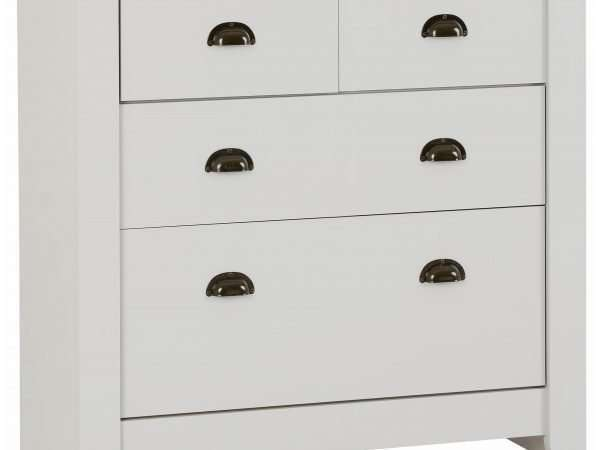 Grey/Oak Lacquer 2+2 Drawer Chest