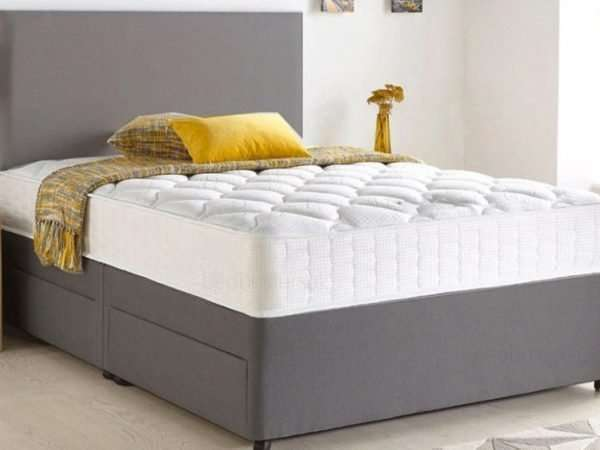 Grey Chenille Divan Bed