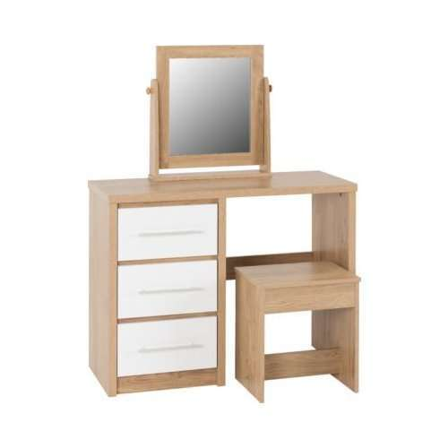 Seville 3 Drawer Dressing Table Set