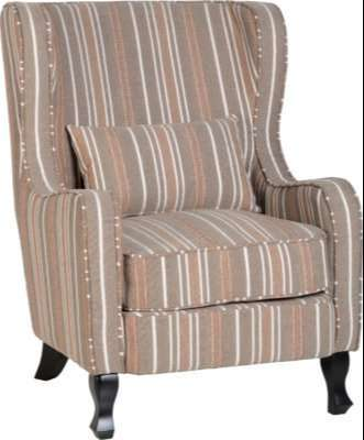 Sherborne Fireside Chair w/ Beige Stripe Fabric