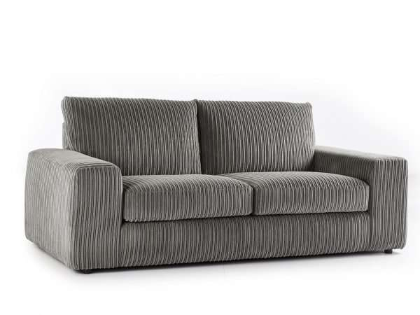 Champion 3 Seater Sofa Jumbo Cord Charcoal