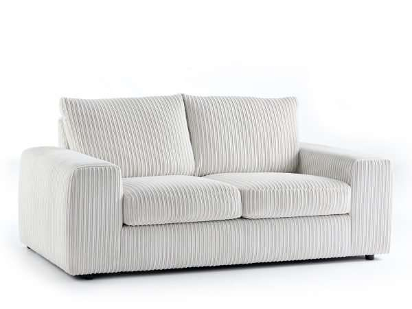 Champion 3 Seater Sofa Jumbo White