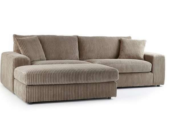 Champion 4 Seater Chaise Jumbo Cord Coffee