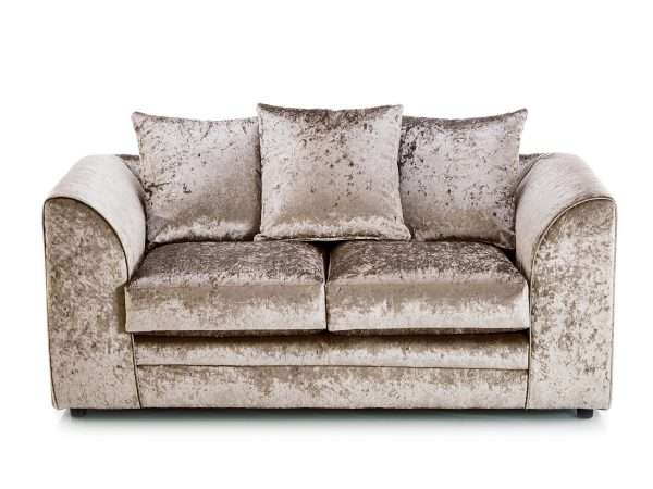 Chicago 2 Seater Crushed Velvet Mink Sofa